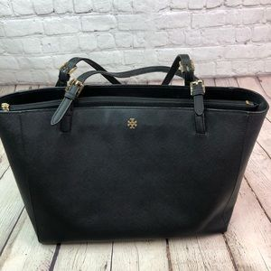 Tory Burch Saffiano Leather Tote Bag